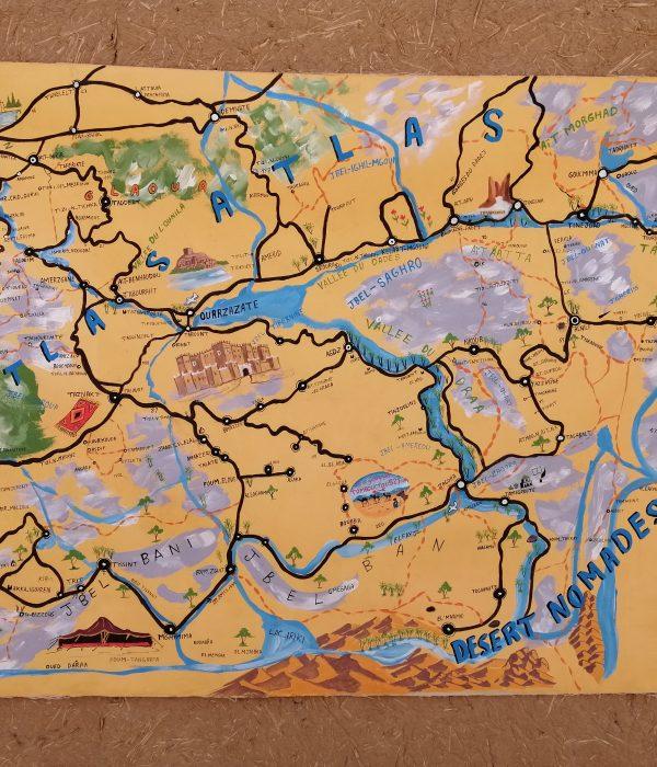 Desert map morocco tours agency