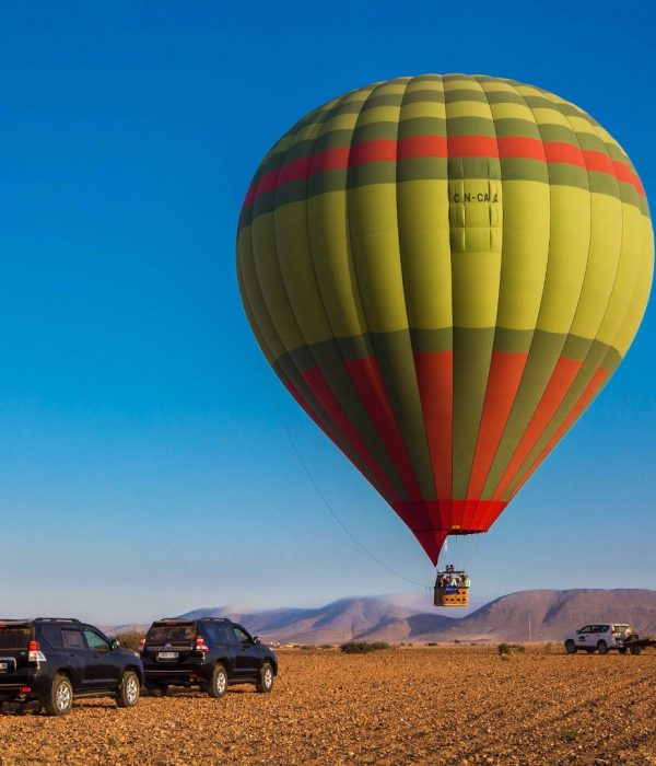 hot-air balloon from marrakech