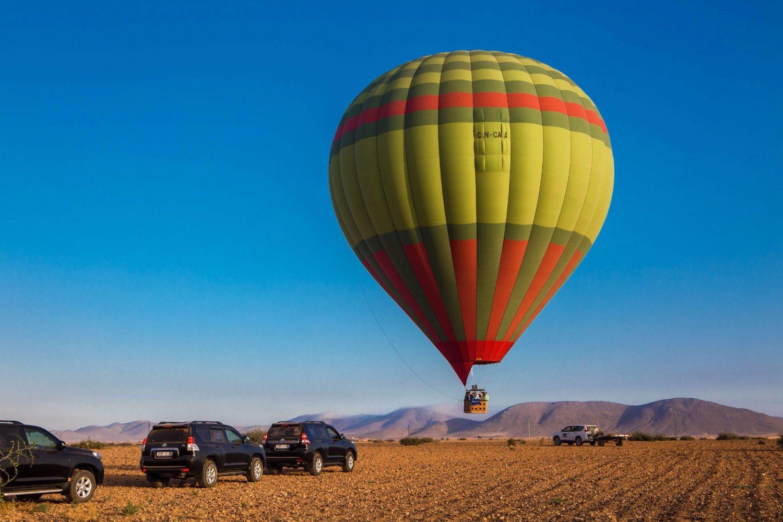 hot air ballon marrakech